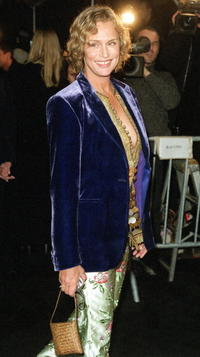 Lauren Hutton at the opening reception of the Giorgio Armani exhibition.