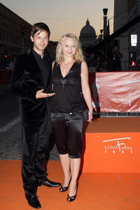 Franz Dinda and Anna Maria Muhe at the Day 5 of Roma Fiction Fest 2008.