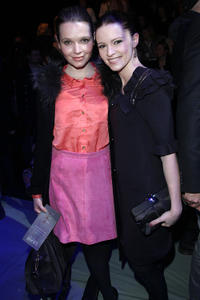 Karoline Herfurth and Jennifer Ulrich at the Laurel Show during the Mercedes Benz Fashion Week Autumn/Winter 2011.