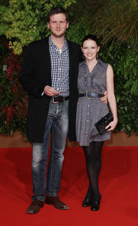 Director Dennis Gansel and Jennifer Ulrich at the German premiere of