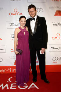 Jennifer Ulrich and director Dennis Gansel at the 37th German Filmball 2010.