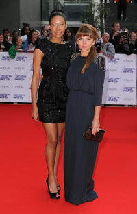 Shanika Warren-Markland and Ophelia Lovibond at the Red Carpet of National Movie Awards 2010 in London.