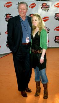 Jon Voight and Skyler Shaye at the 18th Annual Kids Choice Awards.