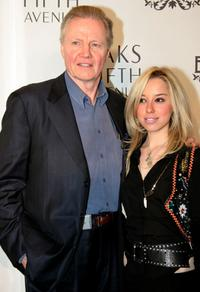 Jon Voight and Skyler Shaye at the launch of the new line of contemporary clothing at Saks Fifth Avenue.