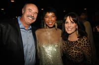 Phil McGraw, Natalie Cole and Robin McGraw at the Natalie Cole's 60th Birthday Party.