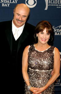 Phil McGraw and Robin McGraw at the 40th Annual Academy Country Music Awards.