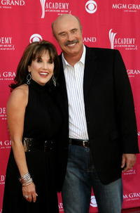 Robin McGraw and Phil McGraw at the 42nd Annual Academy Of Country Music Awards.
