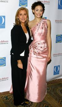 Meredith Vieira and Emmy Rossum at the Skin Sense Awards.