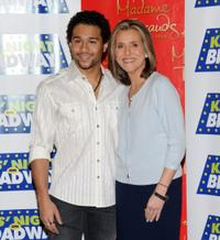 Corbin Bleu and Meredith Vieira at the 14th Annual Kids' Night On Broadway Fan Festival.