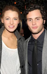 Penn Badgley and Blake Lively at the after party of the New York premiere of