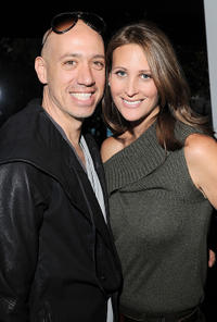Robert Verdi and Stephanie Winston at the Lincoln Center during the Mercedes-Benz Fashion Week.