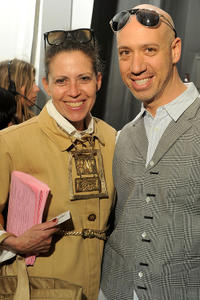 Marilyn Kirschner and Robert Verdi at the Lincoln Center during the Mercedes-Benz Fashion Week.