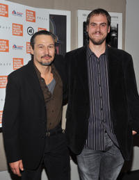Nick Damici and director Jim Mickle at the New York premiere of