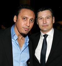 Aasif Mandvi and Nick Damici at the opening night after party of