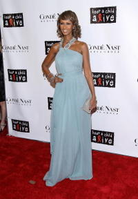 Iman at the 4th Annual Black Ball concert for Keep a Child Alive (KCA).