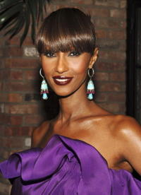 Iman at the pre-party celebration for New York's Night of Stars' honorees Howard Socol and Alber Elbaz.
