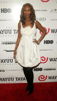 Iman at the Wayuu Taya Foundation fundraising gala.