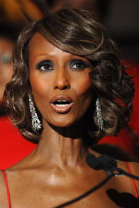 Iman at the unveiling of Lord & Taylor's holiday windows.