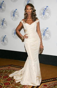 Iman at the Elie Wiesel Foundation for Humanity Award Dinner.