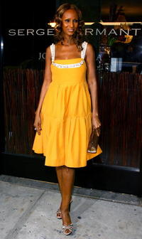 Iman at the opening night party for the new Serge Normant Salon.