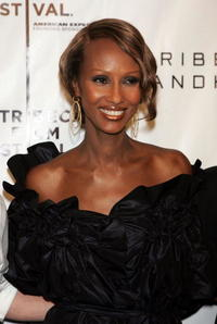 Iman at the 2007 Tribeca Film Festival, during a party hosted by Keep A child Alive for the premiere of