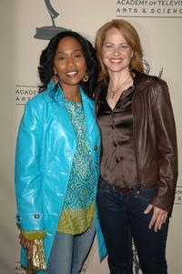 Sonja Sohn and Deirdre Lovejoy at the Academy of Television Arts and Sciences.