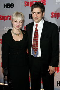 Michael Imperioli and wife Victoria at the HBO premiere of