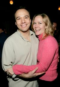 Danny Burstein and Rebecca Luker at the premiere of