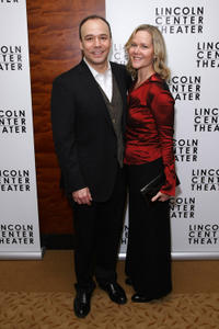 Danny Bursteina and Guest at the Broadway opening night of