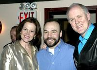 Sigourney Weaver, Danny Burstein and John Lithgow at the opening night of