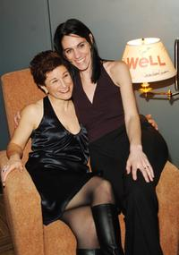 Lisa Kron and Leigh Silverman at the Broadway opening of
