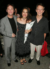 Richard Thomas, Vanessa Aspillaga and director Mark Lamos at the after party of the Opening Night of