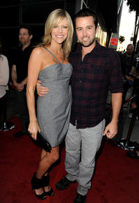 Kaitlin Olson and Rob McElhenney at the California premiere of
