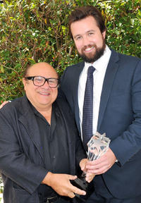 Producer Danny DeVito and Rob McElhenney at the Critics' Choice Television Awards in California.