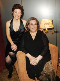 Lisa Kron and Jayne Houdyshell at the Broadway opening of