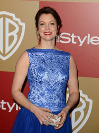 Bellamy Young at the 14th Annual Warner Bros. and InStyle Golden Globe Awards in California.