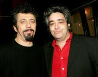 Eric Bogosian and Stephen Adly-Guirgis at the after party of the opening night of