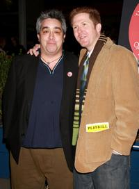 Stephen Adly-Guirgis and Brett C. Leonard at the opening night party celebrating the world premiere of