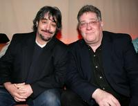 Stephen Adly-Guirgis and Richard Masur at the after party of the premiere of
