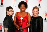 Christian Siriano, Saidah Arrika Ekulona and Mireille Enos at the 2009 Lucille Lortel Awards.