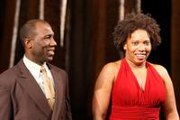 Russell Gebert Jones and Saidah Arrika Ekulona at the Off-Broadway opening night of