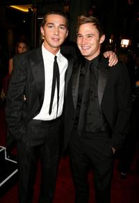 Shia LaBeouf and Brian Geraghty at the opening night gala of