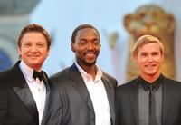 Jeremy Renner, Anthony Mackie and Brian Geraghty at the screening of