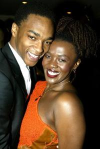 Anthony Mackie and Heather Alicia Simms at the Opening Night Party for their Broadway Play