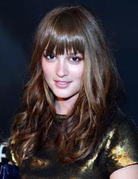 Leighton Meester at the Mercedes-Benz Fashion Week.