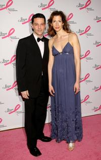 David Alan Basche and Alysia Reiner at the Breast Cancer Foundation's Hottest Pink Party.