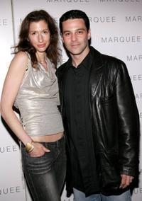 Alysia Reiner and David Alan Basche at the LaSalleHolland Tribeca Film Festival party.