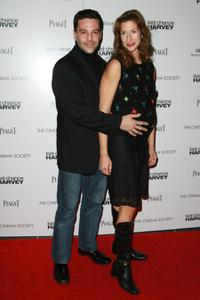 David Alan Basche and Alysia Reiner at the Cinema Society and Piaget screening of