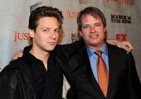 Jacob Pitts and creator/producer Graham Yost at the California premiere of