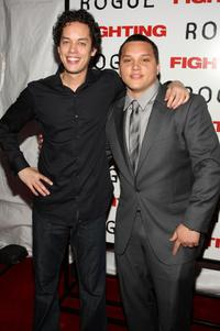 Flaco Navaja and Michael Rivera at the premiere of